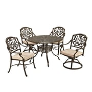 """Home Styles 42"""" Stainless Steel  Dining Set"""