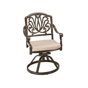 Home Styles Floral Blossom Taupe Cast Aluminum Swivel Chairs