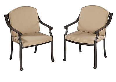 Home Styles Covington Cushioned Aluminum Arm Chair