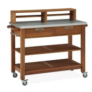 "Home Styles 44.25"" Shorea Wood & Steel Potting Bench"