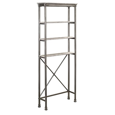 Home Styles The Orleans Over Commode Powder-Coated Metal With Marble Laminate Stand Shelf