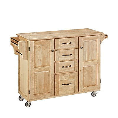 Home Styles Large Solid Wood Cabinet Kitchen Cart