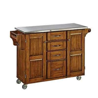 Home Styles Solid Hardwood and Engineered Wood Create-a-Cart Cabinet Kitchen Cart