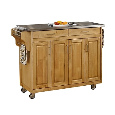 Home Styles Hardwood Cabinet Kitchen Cart
