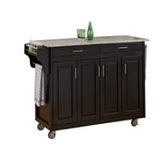 "Home Styles 48.75"" Solid Wood Cabinet Kitchen Cart"