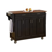 "Home Styles 34.75"" Solid Hardwood  Kitchen Cart"