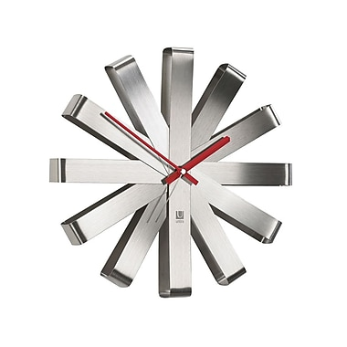 Umbra Ribbon Stainless Steel Clock