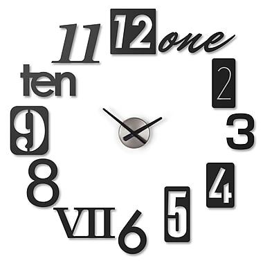 Umbra – Horloge murale Numbra, noire