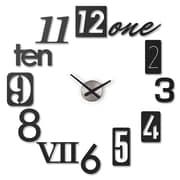 Umbra Numbra Black Wall-Mount Adhesive Wall Clock (118430-040)