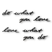 Umbra – Décoration murale Mantra « Do What You Love », noir