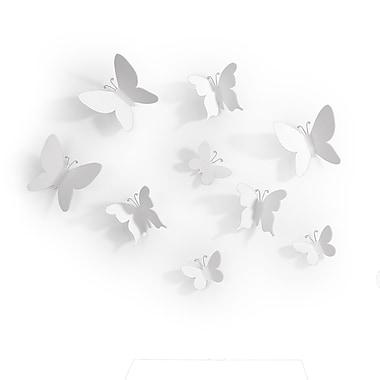 Umbra – Décoration murale Mariposa, ensemble de 9, blanc, paq./3