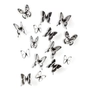 Umbra Chrysalis Wall Decor, Set of 15, Black and Clear