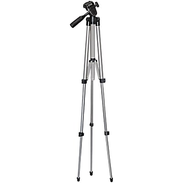 "Image of Vivitar VPT-1250 50"" Professional Floor Standing Tripod, Silver/Black"
