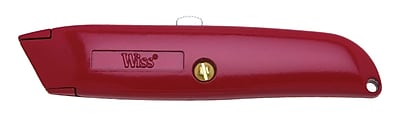 Wiss® WK8V Retractable Utility Knife, Red (186-WK8V)