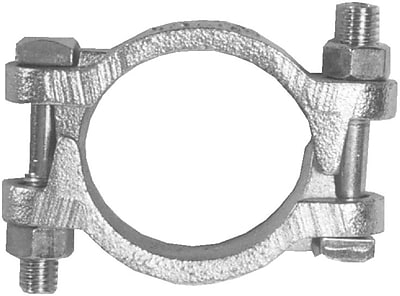 //.staples-3p.com/s7/is/  sc 1 st  Staples & Dixon® Plated Iron Double Bolt Hose Clamp With Saddles 60 ft. lbs ...