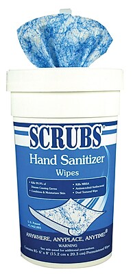 Dymon® Scrubs® Hand Sanitizer Wipes