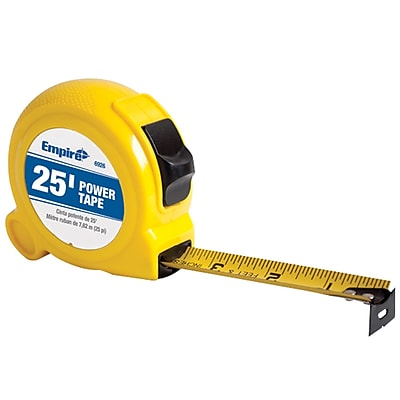 Empire® Power Tape In Yellow Case, 25', Yellow (272-6926)