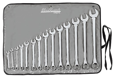 Blackhawk 14 Piece Sae Polished Combination Wrench Set 1012521