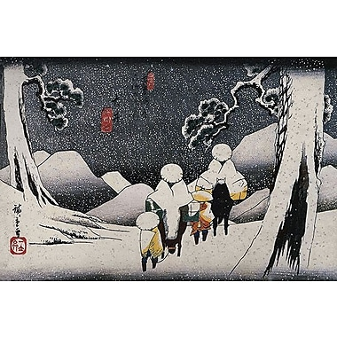 iCanvas Travellers on Horseback by Utagawa Hiroshige l Painting Print on Wrapped Canvas