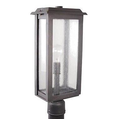 Melissa Urban 400 Series Outdoor 1-Light Lantern Head; Black
