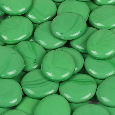 Wholesalers USA 5 lbs of Glass Gems in Electric Green