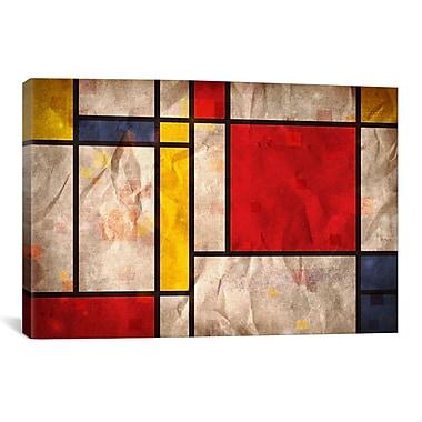 iCanvas 'Mondrian Inspired' by Michael Tompsett Graphic Art on Canvas; 18'' H x 26'' W x 1.5'' D