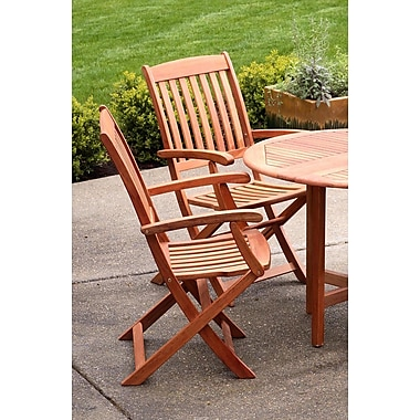 Buyers Choice Phat Tommy Folding Patio Dining Chair (Set of 2)