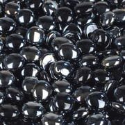 Wholesalers USA 5 lbs of  Glass Gems in Opal Black