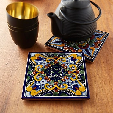 Native Trails Moroccan Midnight Hand Painted Trivets (Set of 2)