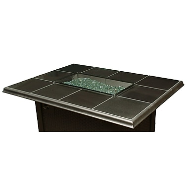 The Outdoor GreatRoom Company Fire Pit Glass Cover; Grey