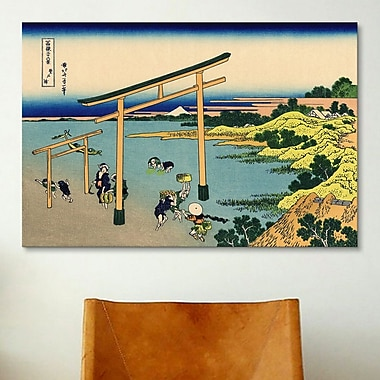 iCanvas 'Bay of Noboto' by Katsushika Hokusai Painting Print on Canvas; 40'' H x 60'' W x 1.5'' D