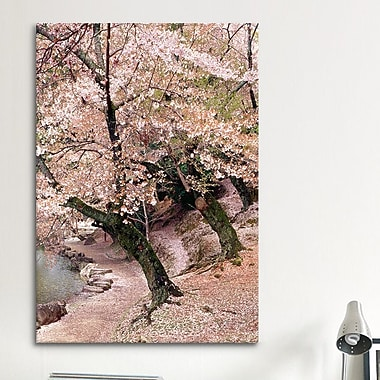 iCanvas 'Cherry Blossom Lane' by Monte Nagler Painting Print on Canvas; 12'' H x 8'' W x 0.75'' D