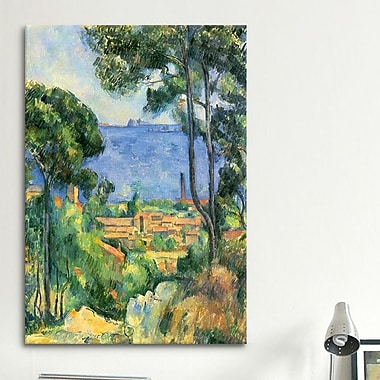 iCanvas 'Forest of Trees' by Paul Cezanne Painting Print on Canvas; 60'' H x 40'' W x 1.5'' D