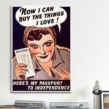 iCanvas Can't Buy Me Love Vintage Advertisement on Canvas; 18'' H x 12'' W x 0.75'' D