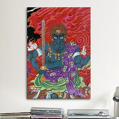 iCanvas Acala (fudo) w/ Sword Japanese Woodblock Graphic Art on Canvas; 26'' H x 18'' W x 0.75'' D
