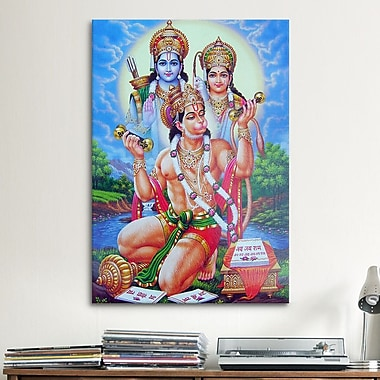iCanvas Hindu God Hanuman Graphic Art on Canvas; 40'' H x 26'' W x 1.5'' D