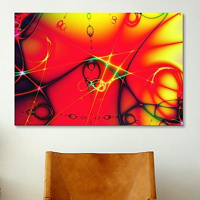 iCanvas Digital Fire Ball Graphic Art on Canvas; 12'' H x 18'' W x 0.75'' D
