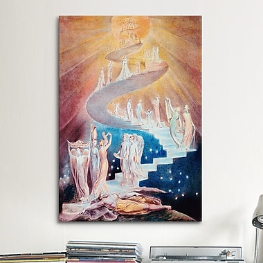 iCanvas 'Jacob's Ladder' by William Blake Painting Print on Canvas; 12'' H x 8'' W x 0.75'' D