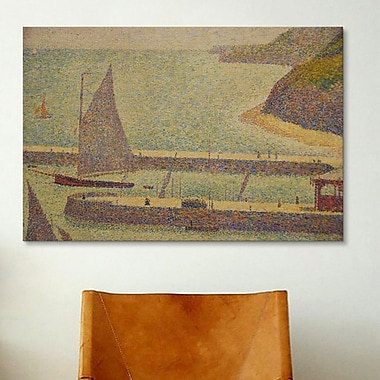 iCanvas 'Port En Bressin' by Georges Seurat Painting Print on Canvas; 12'' H x 18'' W x 0.75'' D