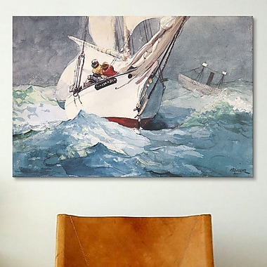 iCanvas 'Diamond Shoal 1905' by Winslow Homer Painting Print on Canvas; 8'' H x 12'' W x 0.75'' D