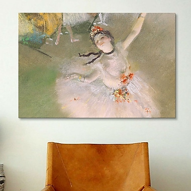 iCanvas 'Dancer on the Stage' by Edgar Degas Painting Print on Canvas; 12'' H x 18'' W x 0.75'' D