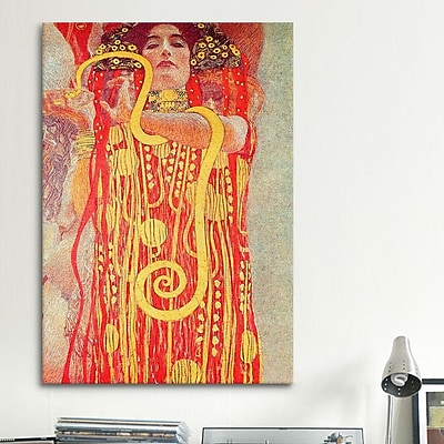 iCanvas 'Klimt Medicine' by Gustav Klimt Painting Print on Canvas; 12'' H x 8'' W x 0.75'' D