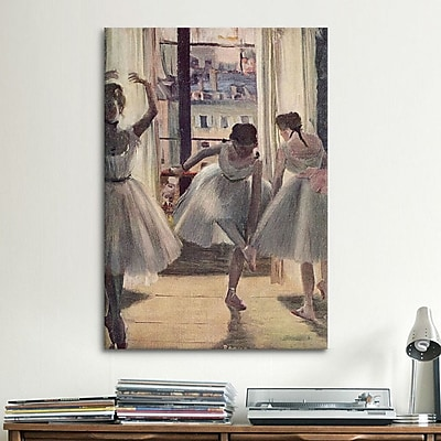 iCanvas Drei Tanzerinnen by Edgar Degas Painting Print on Canvas; 18'' H x 12'' W x 0.75'' D