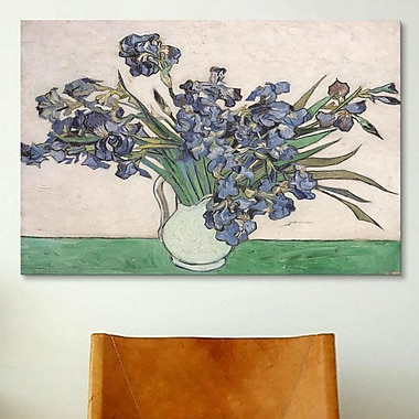 iCanvas ''Irises 1890'' by Vincent Van Gogh Painting Print on Canvas; 26'' H x 40'' W x 0.75'' D