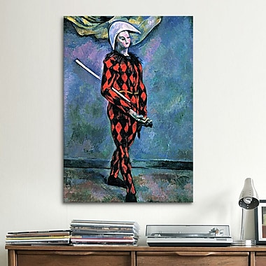 iCanvas 'Harlequin' by Paul Cezanne Painting Print on Canvas; 26'' H x 18'' W x 0.75'' D