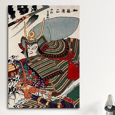 iCanvas Japanese Kato Kiyomasa Woodblock Painting Print on Canvas; 26'' H x 18'' W x 0.75'' D