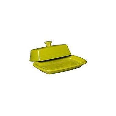 Fiesta Covered Butter Dish; Lemongrass
