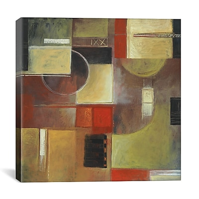 iCanvas ''Retro in Red III'' by Pablo Esteban Graphic Art on Canvas; 12'' H x 12'' W x 1.5'' D