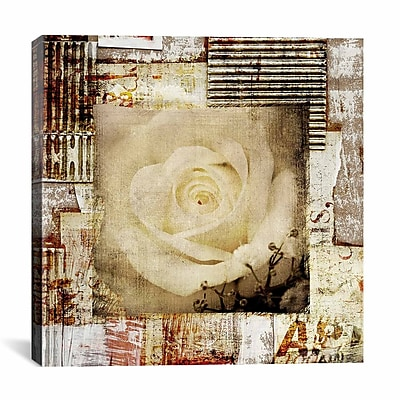 iCanvas ''Retro Flower'' by Luz Graphics Graphic Art on Canvas; 18'' H x 18'' W x 1.5'' D