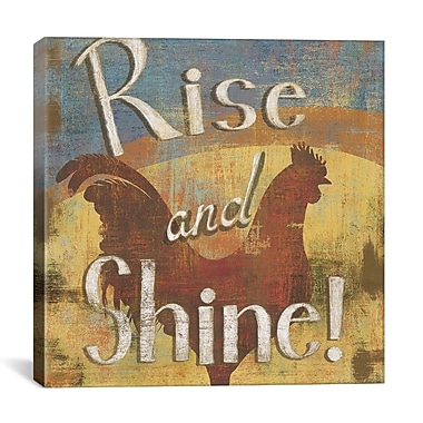 iCanvas ''Rise and Shine'' by Daphne Brissonnet Graphic Art on Cavas; 37'' H x 37'' W x 0.75'' D
